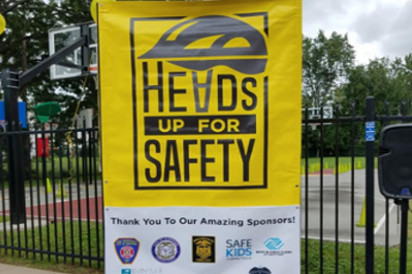Heads Up For Safety Banner