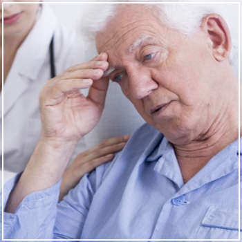 upset elderly man