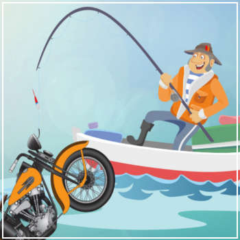 Fishing for a Harley-Davidson