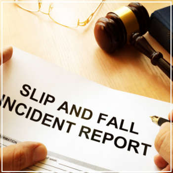 Filling out slip and fall incident report