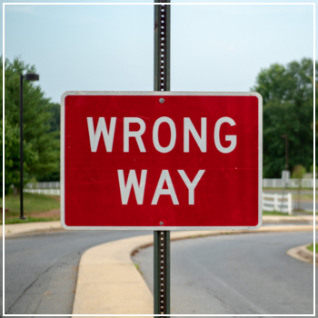 wrong way driving sign