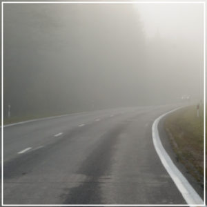 foggy road conditions