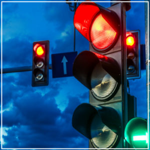 traffic light closeup