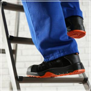 closeup climbing ladder