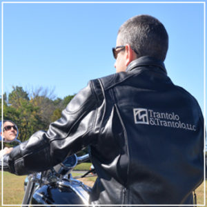 Keith Trantolo on a motorcycle